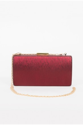 Shine Sister Crossbody Clutch (Wine Red)