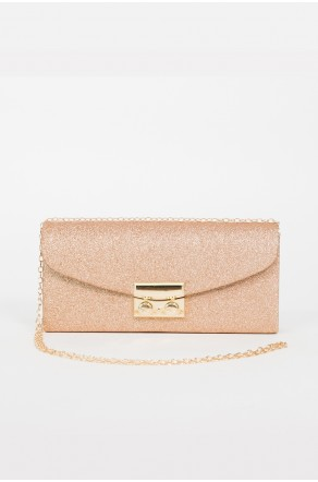 Runway Babe Crossbody Clutch (Gold)