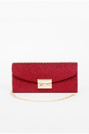 Runway Babe Crossbody Clutch (Red)