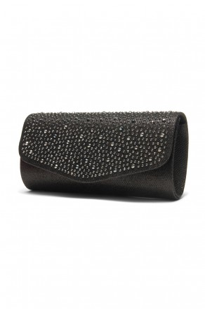 SZY-8808-Glittering Womens Flap Evening Purse (Black)