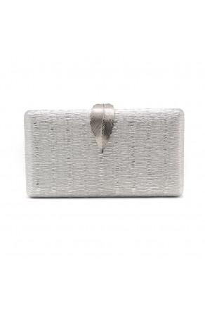SZY-E1091- Sparkling Envelope Evening Clutch Purse (Silver)