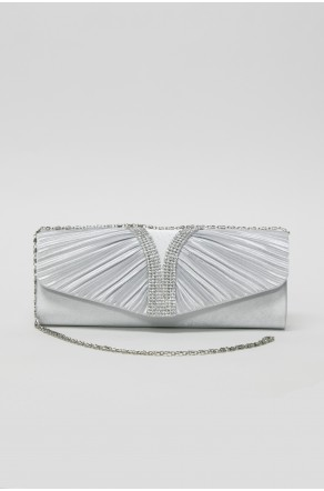 Show Off Crossbody Clutch (Silver)