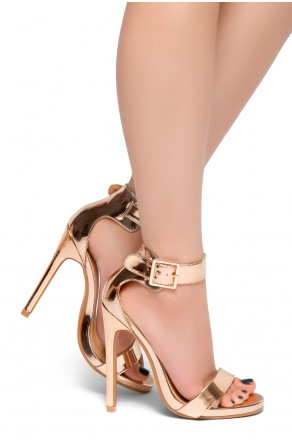 HerStyle Zoanna-Stiletto heel, Strap around the toe, Platform (Champagne)