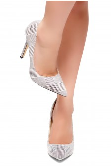 HerStyle Mile- Pointed Toe, Stiletto Heel Pumps (White)