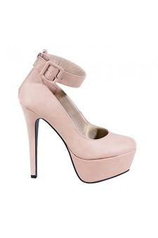 Women's Mauve Faina Stylish 6-inch Platform Pump with Trendy Ankle Buckle