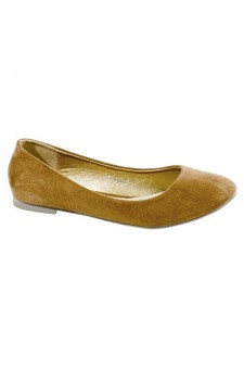 Women's Tan Fontalina Manmade Round-Toe Animal Print Flat