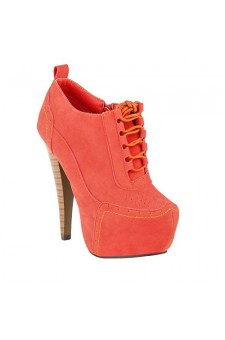 Women's Coral Anteek Lace-Up 5.5-inch Vintage-Inspired Platform Pump