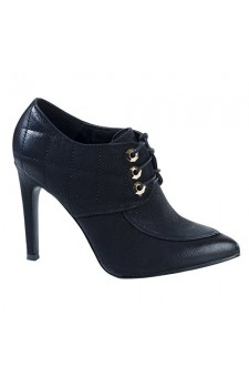 Women's Black Dennver Bootie Heel with Vintage Flair