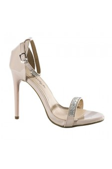 Women's Blush Aisha 5-inch Sandal Pump with Sparkling Toe Band