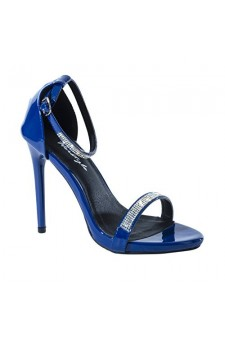 Women's Blue Aisha 5-inch Sandal Pump with Sparkling Toe Band