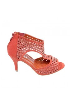 Women's Coral Bailey Pump Sandal with Shimmering Perforated Vamp