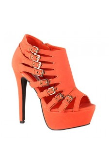 Women's Coral Imera 6-inch Stiletto Platform Strappy Booties with Bold Buckles