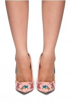 HerStyle Aleanie-Glitter Stars, Pointy toe, Stiletto heel (Mauve)
