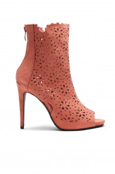 Women's Mauve Cardross peep Toe, Zipper, Stiletto, Lacer cutout design, high heel sexy Booties