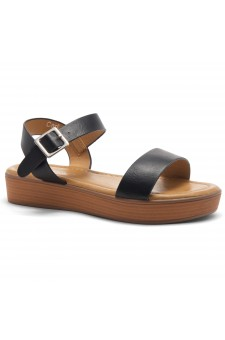 Herstyle Carli-Women's Platform Sandal Open Toe (Black/Brown)