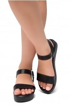 Herstyle Carli-Women's Platform Sandal Open Toe (Black)