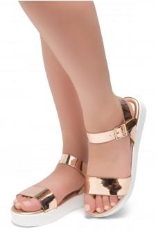Herstyle Carli-Women's Platform Sandal Open Toe (RoseGold)