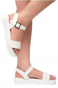 Herstyle Carli-Women's Platform Sandal Open Toe (White)