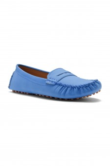 HerStyle Daphney Women's Manmade Moccasin (Blue)