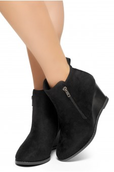 HerStyle Eaddy-2-Women's Fashion Casual Ankle Booties (Black)