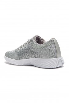 HerStyle Women's Manmade Elivia Spec Flyknit Contrast Sneakers - Silver
