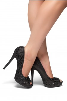 HerStyle Elvyne-Stiletto heel, jeweled embellishments (Black)