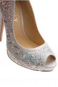 HerStyle Elvyne-Stiletto heel, jeweled embellishments (Silver)
