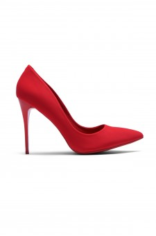 Women's Red Pointed Toe Classic Pump EMUSE