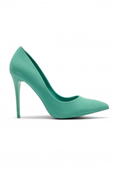 Women's Teal Pointed Toe Classic Pump EMUSE