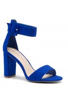 Shoe Land ENLOVE-Chunky heel, ankle strap (RoyaBlue)