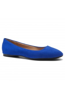 HerStyle Ever Memory -Almond Toe, No detail, Ballet Flat (RoyalBlue IM)