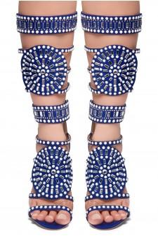 HerStyle FASHION CROWD HI- stiletto heel, jeweled embellishments (RoyalBlue)