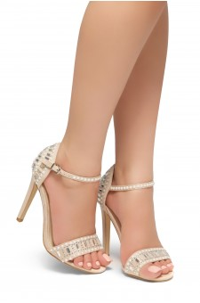 HerStyle Fashion Glam Ego- stiletto heel, jeweled embellishments (Nude)