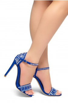HerStyle Fashion Glam Ego- stiletto heel, jeweled embellishments (RoyalBlue)
