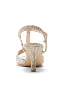 HerStyle Figarra-Stiletto heel, ankle strap, jeweled embellishments(Rose Gold)