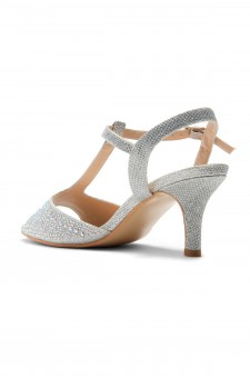 HerStyle Figarra-Stiletto heel, ankle strap, jeweled embellishments(Silver)