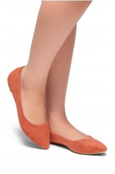 HerStyle Gemma-Pointed Toe Ballet Comfort (Blush)