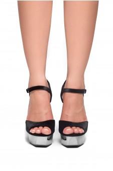 HerStyle Greetta Platform, chunky heel, ankle strap (Black)