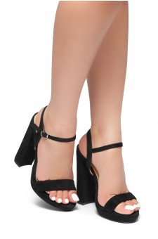 HerStyle Have it all-Open toe platform, ankle strap (Black)