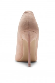 HerStyle Janiccee Curved Stiletto Heel Pointed Pumps (Blush)