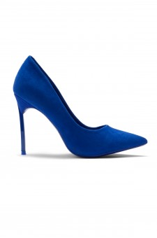 HerStyle Janiccee Curved Stiletto Heel Pointed Pumps (RoyalBlue)