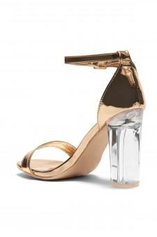 HerStyle Jayssee Open toe, Perspex heel (Rose Gold)