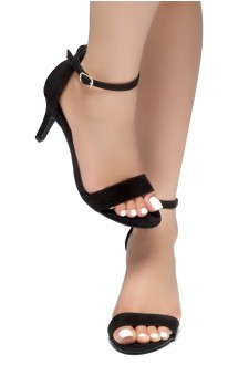HerStyle Joyccee-Stiletto heel, ankle strap,back closure (Black)