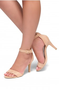 HerStyle Joyccee-Stiletto heel, ankle strap,back closure (Blush)