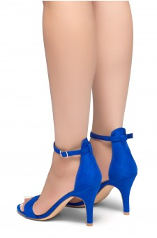 HerStyle Joyccee-Stiletto heel, ankle strap,back closure (RoyalBlue)