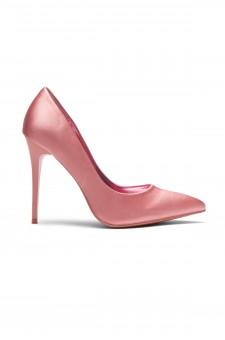 HerStyle Kaali Satin pointed toe, stiletto heel (Mauve)