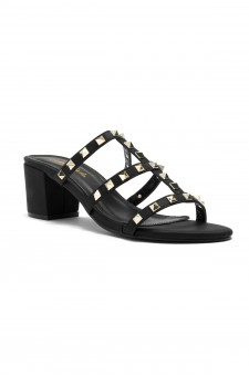 HerStyle Kalissi Studded Detail with block Heel (Black)