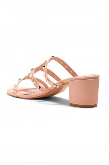 HerStyle Kalissi Studded Detail with block Heel (Mauve)