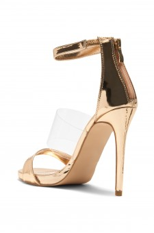 HerStyle Kasseenn stiletto heel, Perspex details (Clear Rose Gold)