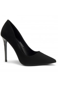Herstyle Women's Katherina-High Heel with Lightly Pointed Toe Stiletto Heel (Black)